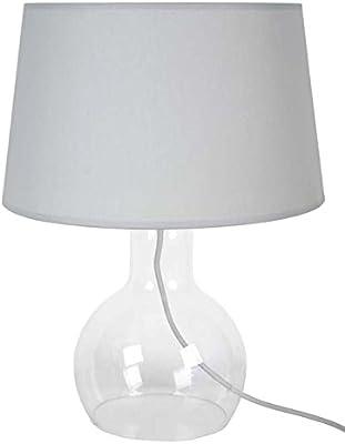 Tosel 64278 carne Lampada in vetro soffiato, in cotone, in tessuto, colore: grigio, 300 x 400 mm