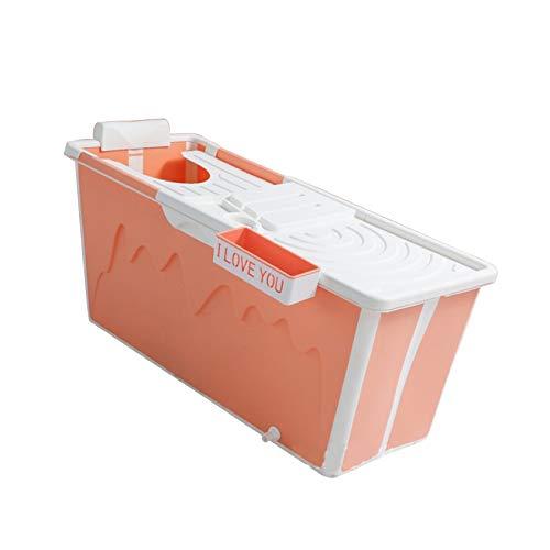 SYN-GUGAI Bañera Plegable Plegable 3 en 1 para bebés Bañera Plegable Happy Life, bañera portátil, bañera de plástico, bañera de SPA, bañera de Masaje, Ducha de Seguridad para niños,Orange