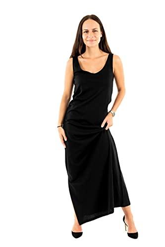 Only ONLMAY Life S/L V-Neck Dress Jrs Vestito, Nero, M Donna
