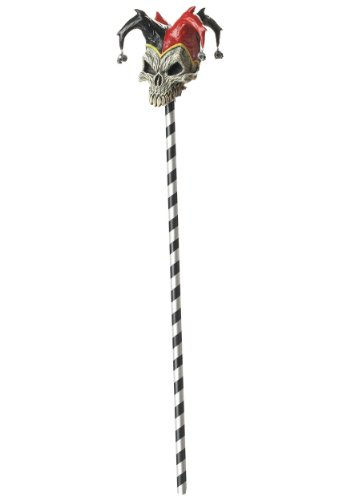 Californie Costume collections 60370CC Jester Skull Cane