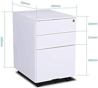 Classeurs Made in Lock Universel Roue de prévention des incendies avec 3 tiroirs Box Bureau Creative Armoire de Rangement ...