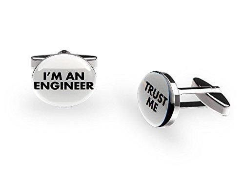 Cuffs 'N' Collars ingénieur Boutons de manchette ('Trust Me' Job Boutons de manchette avec boîte cadeau)