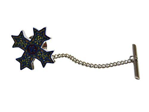 Colorful Celtic Cross Tie Tack