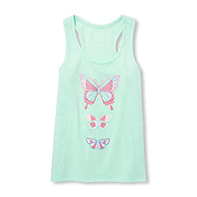 The Children's Place Big Girls' Novelty Racerback Tank Top, Mermaids Tale, M (7/8)