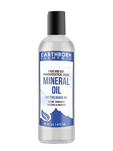 Mineral Oil 16 oz by Earthborn Elements Food amp USP Grade for Cutting Boards Butcher Blocks Counter Tops Wooden Utensils