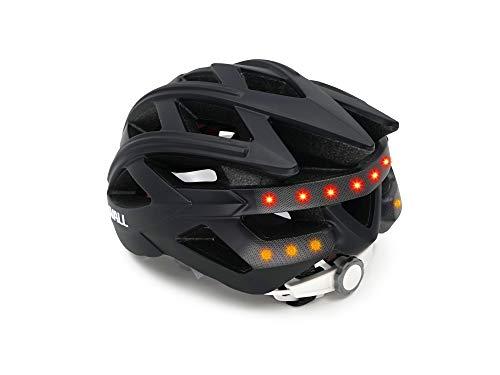Livall Unisex– Erwachsene BH60SE Musik, Rücklicht, Blinker, Navigation, Anruffunktion und SOS-System Fahrradhelm, schwarz, 55-61cm