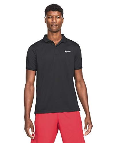 Nike - Polo da Uomo Nkct DF Victory Nero/Bianco S