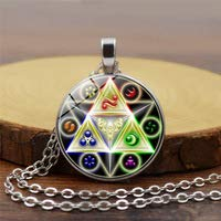Nuevo collar de leyenda de Zelda Puerta del Tiempo Hyrule Historia emblema inspirado cúpula de cristal Zelda colgante collar joyería