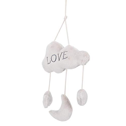 Juguete interactivo duradero de algodón PP para padres e hijos, juguete de sonajero colgante, para entrenamiento de agarre, desarrollo intelectual del bebé, hogar(Clouds)