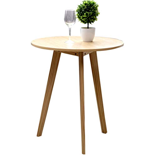 Tables basses Petite Table Ronde Élégante en Bois Massif Table De Magazine Décontractée De Bureau Table De Coin Simple Canapé De Salon Mini De Balcon (Size : 48x60cm)