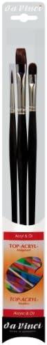 da Vinci Oil Acrylic Series 4221 Top Acryl Long Handled Paint Brush Set Multiple Sizes 3 Brushes product image