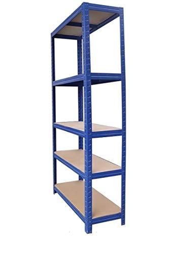 ProLiving Schwerlastregal blau - 150 x 70 x 30cm Steckregal Lagerregal Regal Werkstattregal Kellerregal Werktisch 625kg