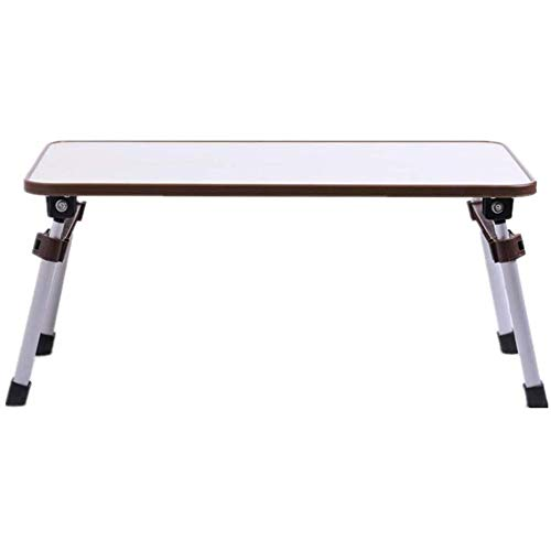 WSJTT Laptop Desk Portable Notebook Stand Standing Table for Bed and Couch Breakfast Serving Tray with MDF Top Board and Foldable (Color : Brown)