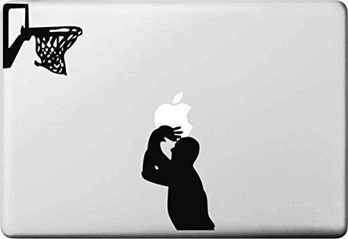 Vati Hojas desprendibles Baloncesto Voto Etiqueta del Vinilo de la Etiqueta engomada de la Piel de Arte Negro para Apple Macbook Pro Aire Mac DE 13 Pulgadas 15'/13 Unibody 15' Pulgadas Portátil
