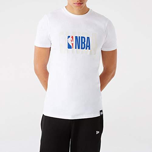New Era Camiseta de Manga Corta Modelo NBA Logo tee NBALOG M