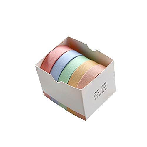 Eudola Einfarbige Serie Klebeband Wahi Tape Japanisches Klebeband Multifunktions DIY Dekorative Klebeband Klebeband Geschenk für Student und Tagebuch Schreiben Enthusiasten - Wolkenschatten
