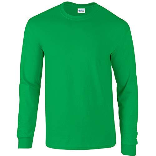 Gildan Herren Langarmshirt Grün Irisches Grün Medium
