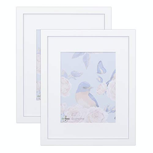 18x24 White Picture Frame - 2 Pack -Matted for 12x18, Frames by EcoHome