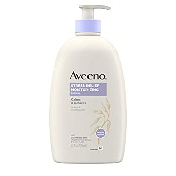 Aveeno Stress Relief Moisturizing Body Lotion with Lavender Natural Oatmeal and Chamomile & Ylang-Ylang Essential Oils to Calm & Relax 33 fl oz