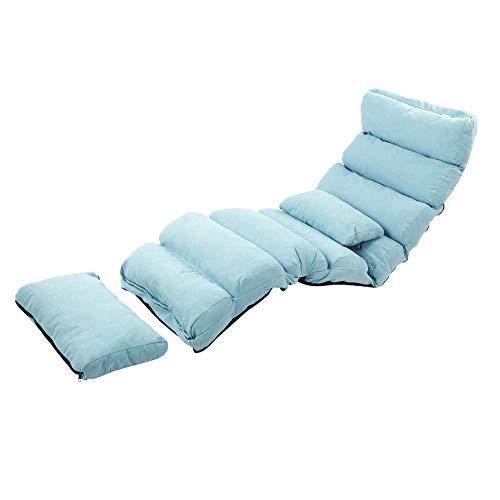 Ausla klappbar Sitzkissen, 5 Positionen Verstellbares Lazy Sofa, Sitzsack Bodenkissen Faltmatratze, verstellbare Lehne, für Drinnen, Bodensitzkissen