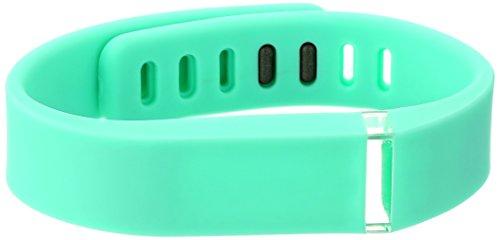 Voguestrap Smart Buddie 1800-1001-TL Green Rubber Strap Compatible with Fitbit Flex