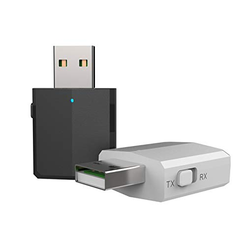WLQWER Transmisor De Bluetooth De 2 Piezas, Adaptador De Bluetooth USB Estéreo Portátil Inalámbrico para TV PC Coche Home Music