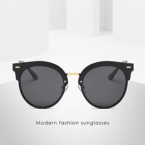 Persönlichkeit HD Sonnenbrille Polarisierer Sonnenbrille Retro Boomer Straße schießen männliche und weibliche Äquivalente 143 * 147mm Schwarzgerahmte schwarzgraue Flocken