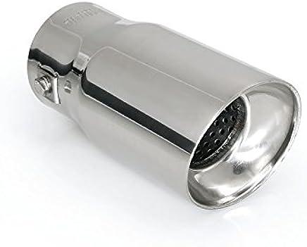 acero inoxidable, 50/mm color plateado Lampa 60120 T-6 Bent-end Inserto para tubo de escape