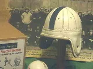 Mini Penn State Leather Football Helmet (1940s)