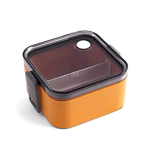 SKTE Fiambrera Japonesa Bonita, Recipiente De Plástico De Gran Capacidad, Caja Bento Creativa, Suministros De Cocina para Microondas (Color : A, Size : 1000ml)