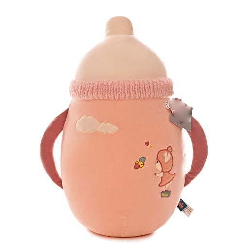 Reisedecke Weiche 2-in-1 Flugzeugdecke Kreative Flasche Kissen Klimaanlage Decke Plüschtier 2-in-1-Auto Klimaanlage Unterwegs War Teppiche GCSQF1019 (Color : Pink, Size : 45cm)