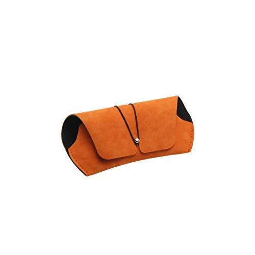 EMFGJ Funda de piel para gafas de sol, portátil, funda protectora para gafas de sol, para almacenamiento de gafas, color rosa