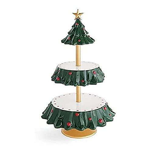 WAITLOVER Be Merry Snack Bowl Stand, Stand per spuntini natalizi, buffet o tavolo Snack, piatti da dessert per decorazioni natalizie