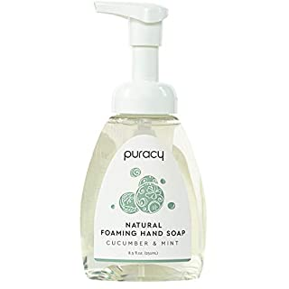 Puracy Natural Foaming Hand Soap Set, Cucumber & Mint, Moisturizing Hand Wash Bottle & Refill, 73-Ounce (B07QFC5WZC) | Amazon price tracker / tracking, Amazon price history charts, Amazon price watches, Amazon price drop alerts