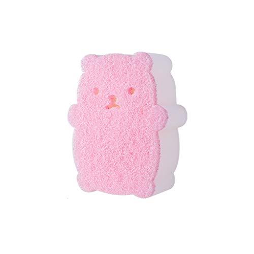 Cepillo de baño niños Esponja de Espuma Gel de Ducha del baño de Ducha Limpio (Color : Pink)