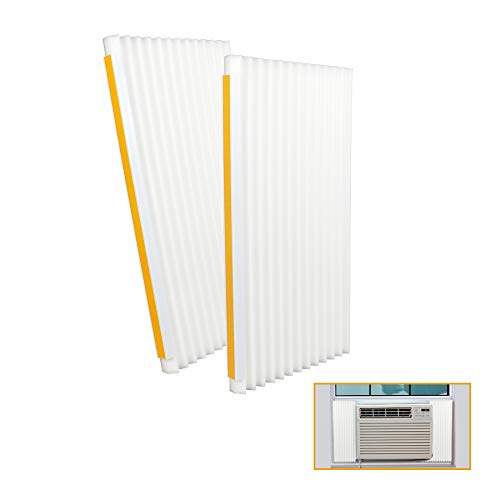 LBG Products Window Air Conditioner Foam Insulation Panels, AC Side Insulating Panel Kit, 18in High x 9in Wide x 7/8in Thick,White Beige