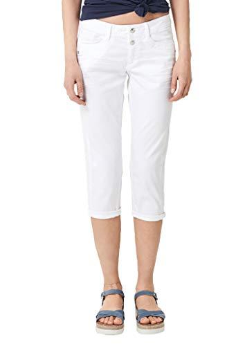 s.Oliver RED Label Damen Shape Capri: Stretchige Twillhose White 46