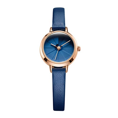 Damenuhr Quarzuhr für Damen, Business-Mode-Stereo-Stereoanlage, wasserdicht und kompakt (blau) (Color : A)