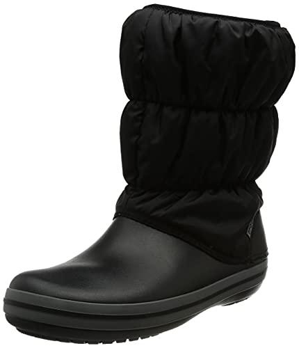 Crocs dam vinter puff boots snökängor, Svart Black Charcoal 070-39/40 EU