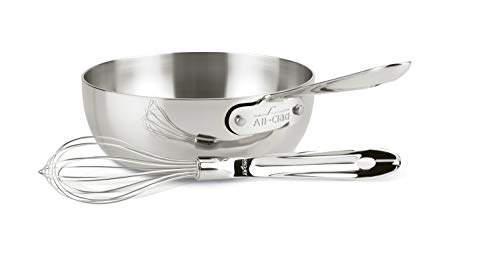 All-Clad 4212 Stainless Steel Saucier Sauce Pan Cookware, 2-Quart, Silver