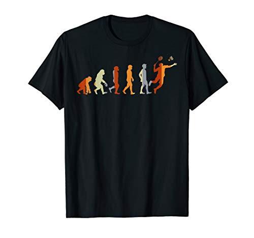 Geschenk für Sportler Evolution Badminton T-Shirt