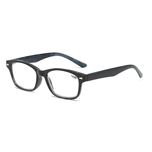 LGQ Gafas de Lectura con Montura de PC ultraligeras, Lentes de Resina HD antifatiga, Apariencia de Moda atmosférica Gafas para Ancianos Dioptrías de 1,00 a 3,00,Azul,+2.50