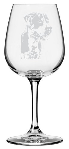 Greater Swiss Mountain Dog Themed Etched All Purpose 12.75oz Libbey Wine Glass