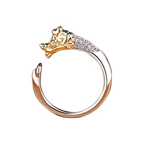 Ogquaton 1X Frauen Schmuck Ring Sternzeichen Drache Einstellbare Offenen Ring Hochzeit Daumen Knöchel Ring Kostengünstig
