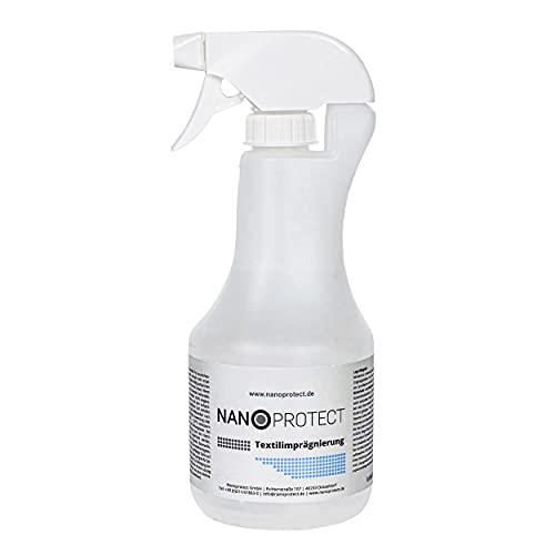 Nanoprotect Textilimprägnierung | Stark Wasserabweisende High-Tech Imprägnierung mit Fleckenschutz | 500ml Spray