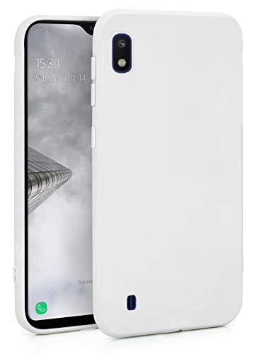 MyGadget Silikon Hülle für Samsung Galaxy A10 2019 - robuste Schutzhülle TPU Hülle Slim Silikonhülle Back Cover Ultra Kratzfest Handyhülle in Weiß