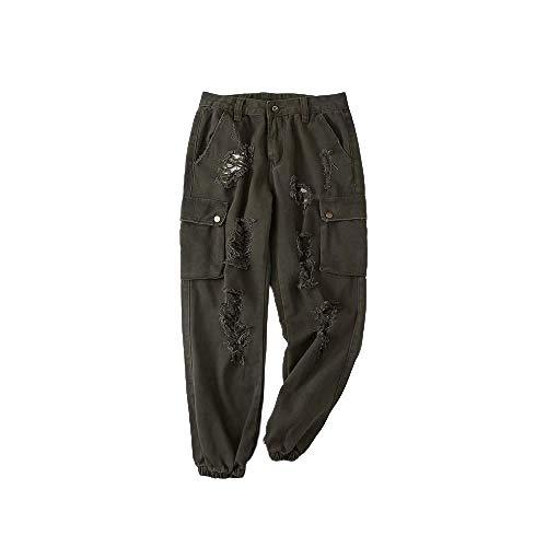 Pantalones Casuales de Primavera y Verano para Mujeres Pantalones Casuales sólidos y Salvajes de Estilo Europeo y Americano