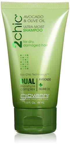 Giovanni Cosmetics 2chic Avocado and Olive Oil Ultra-Moist Shampoo, 1.5 OZ