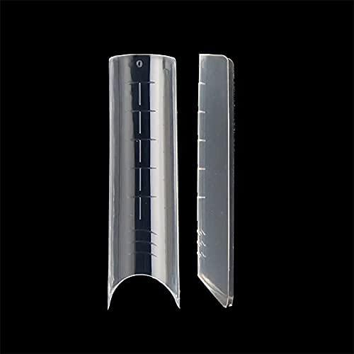 DUALFORMS 01 – Dual System form in box – Moldes de plástico ABS Full Cover transparentes para reconstrucción de uñas con acrylgel – 120 unidades