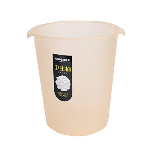Yuanyuanliu Neue coverless Hause Wohnzimmer schaffen Raum büro mülleimer Kunststoff Peeling sanitär Eimer papierkorb (Color : Orange)